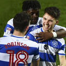 Big break: Paul Smyth is all smiles after netting the winner on his QPR debut on New Year's Day