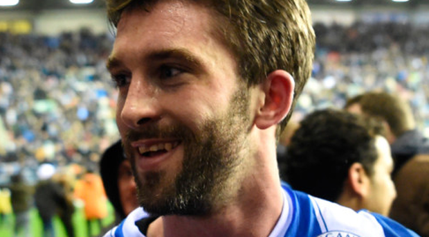 Hero: Will Grigg after dumping Manchester City out of the FA Cup