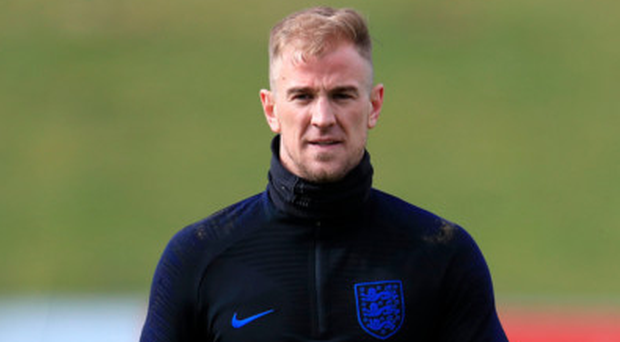Competition: Joe Hart (pictured) and Nick Pope are in contention to be England's number one at the World Cup