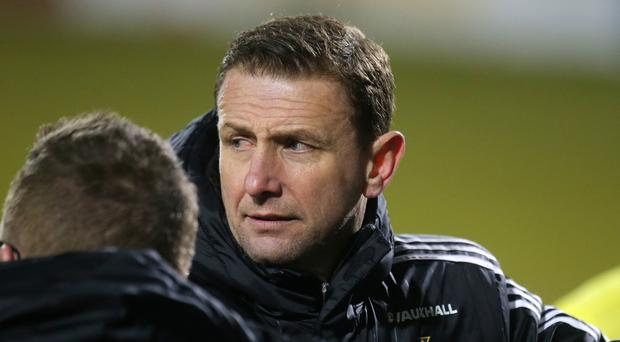 Confident: Ian Baraclough believes his side can get back on the winning track this evening