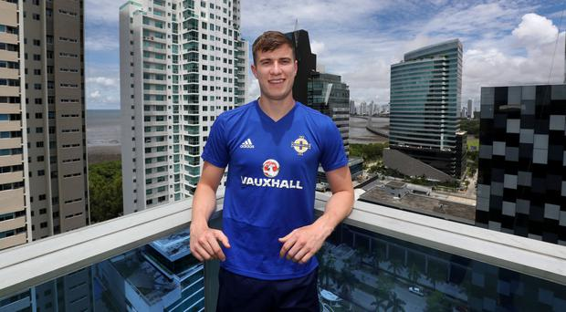 Fully focused: Paddy McNair sees the sights in Panama