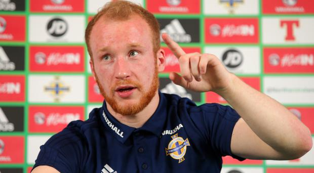 Northern Ireland striker Liam Boyce could be moving up to the Championship.
