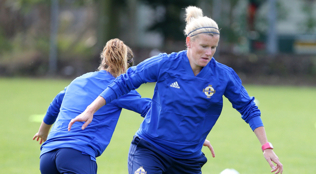 Ton up: Defender Julie Nelson will become the first woman to win 100 caps for Northern Ireland