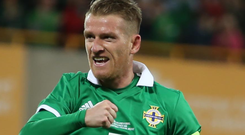 Main man: NI captain Steven Davis is set to take on Luxembourg in 2019