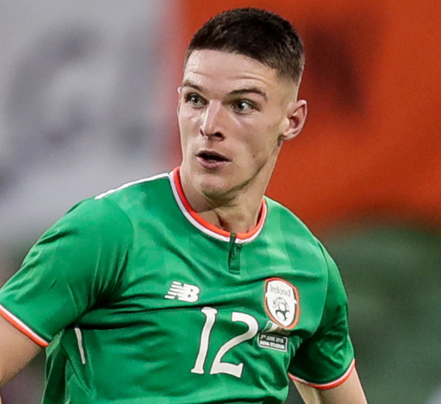 Declan Rice in action for Ireland.