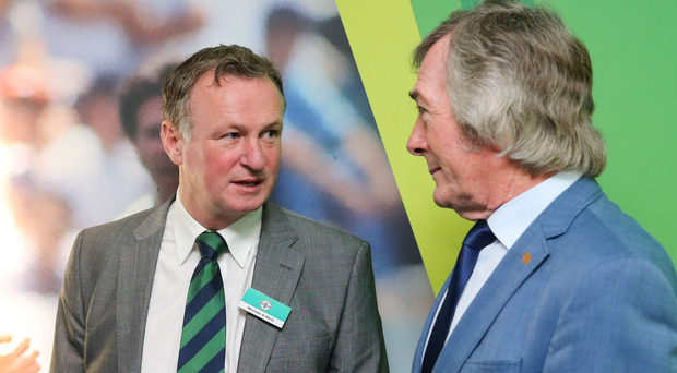 Big fan: Michael O'Neill has the support of Pat Jennings, who isn't surprised his Northern Ireland success is turning heads