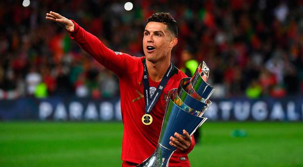 Top scorer: Portugal captain Cristiano Ronaldo celebrates