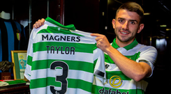 New Bhoy: Greg Taylor has signed a four-year contract