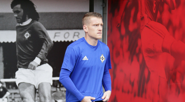 Leading from front: Steven Davis at Windsor yesterday