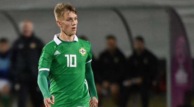 Called up: Ethan Galbraith is in the NI Under-21 squad