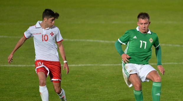Undaunted: Kyle McClean is confident Northern Ireland U21s will rise to the occasion against Group 8 top seeds Denmark