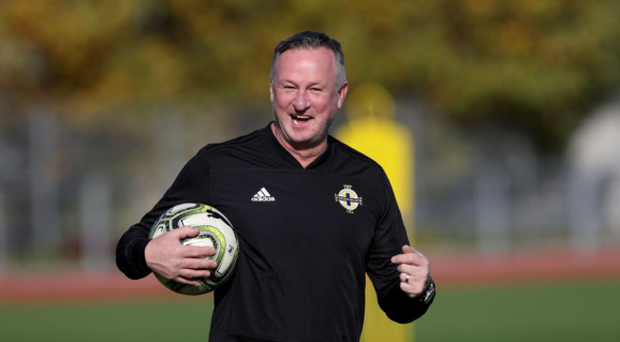 Smiles of choice: Michael O'Neill will have a full panel to pick from this evening