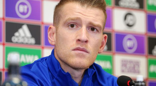 History maker: NI skipper Steven Davis will tonight overtake David Beckham and become the UK's most-capped midfielder