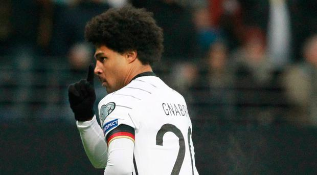 Clinical edge: Serge Gnabry has 13 goals for Germany