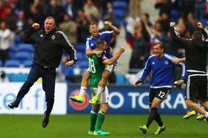 Great times: Michael O'Neill hails Euro 2016 win over Ukraine