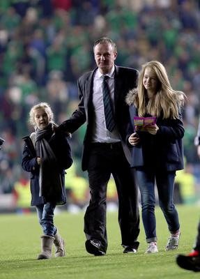 Precious time: Michael O'Neill with daughters Olivia and Erin