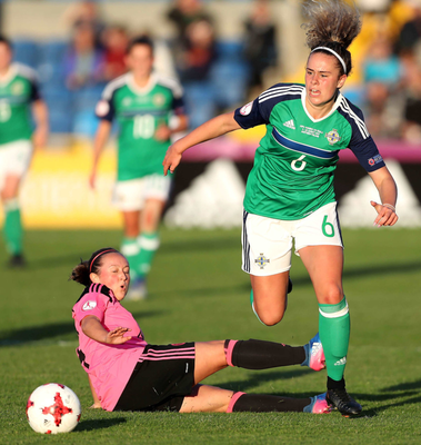 Next up for NI was Scotland. Brenna McPartlan came up against Scotland's Claire Adams amid a Titanic tussle.