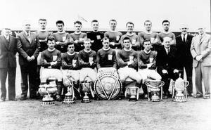 The 1961-62 season seven-trophy winning side