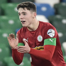 Late impact: Thomas Maguire started Cliftonville's stunning Co Antrim Shield final comeback