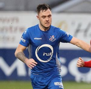 Looking up: Nathaniel Ferris has helped fire Loughgall into the promotion mix