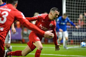 Martin Donnelly won two titles with Cliftonville and is now a big- game player for Larne
