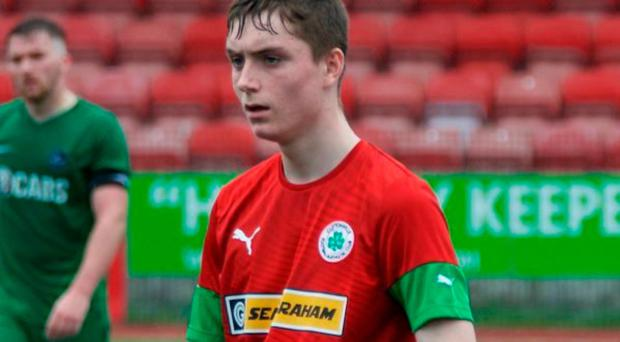 Gold touch: Calvin McCurry has been a regular scorer for Cliftonville's reserve side this season