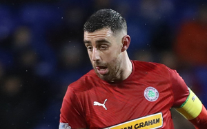 Oh no: Joe Gormley could have won it for Cliftonville
