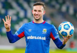 Linfield striker Andy Waterworth