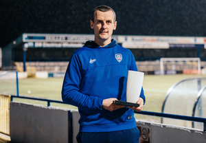 Top boss: Coleraine boss Oran Kearney receives NIFWA's January Manager of the Month award