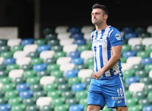 Bradley should be available for the European adventure but there may be concerns at Coleraine that he could be hit with a domestic suspension