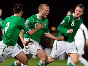Warren banging in the goals for Northern Ireland