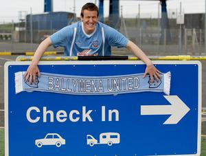 New arrival: Stranraer man Allan gets used to his new surroundings in Ballymena