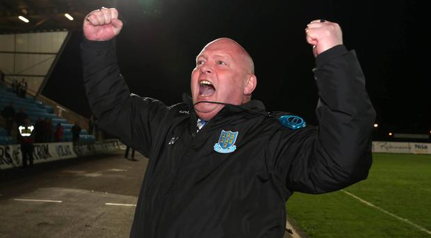 Sympathetic ear: David Jeffrey says the red card incident wasn't all Adam Lecky's fault