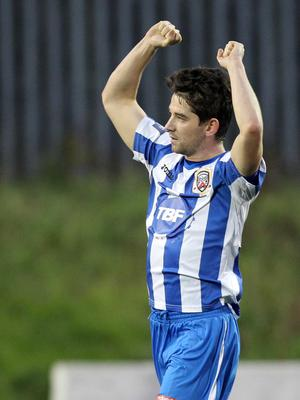 Familiar face: Curtis Allen during his first spell at Coleraine