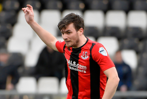 Goalscorer: Philip Lowry hit Crusaders' first on Saturday