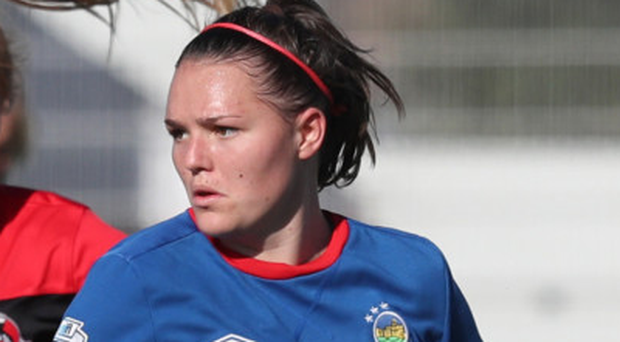 Positive start: Abbie Magee struck for Linfield Ladies