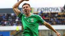 Raring to go: Gareth McAuley can't wait to get onto the pitch against Greece at Windsor Park