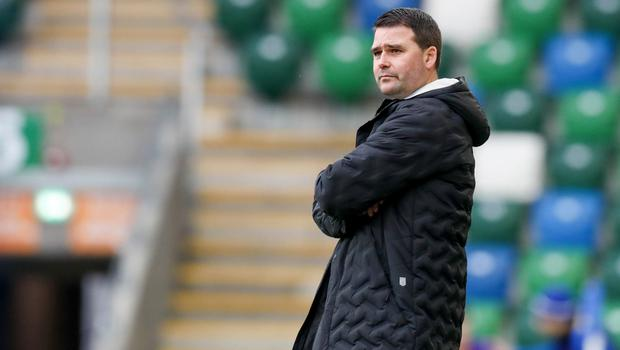 Lead role: David Healy's side are four points clear at the top