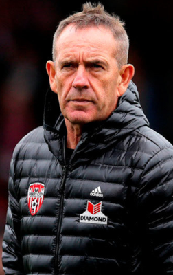 Exit door: Kenny Shiels has been sacked by Derry City