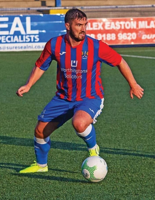 On the ball: Michael McLellan aims to put Ards on the front foot