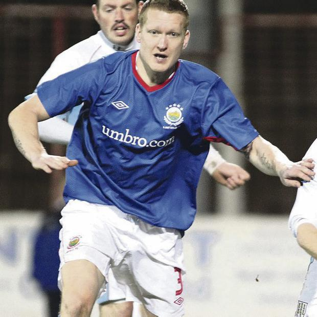 New challenge: David Armstrong has signed for Premiership new boys Ards after agreeing to cancel his contract at Linfield