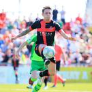 Title ambitions: Crusaders midfielder Matthew Snoddy