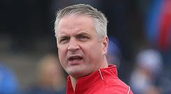 Goal-orientated: Colin Nixon wants Ards to find the net