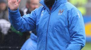 Frustrated: Ards' Colin Nixon