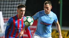 Ballymena's Leroy Millar will be out of action after breaking a bone in his foot during last night's Bet McLean LEague Cup Quarter-final defeat to Crusaders.