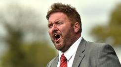 Promotion hopes: Carrick Rangers manager Niall Currie