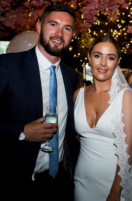 Tying knot: Michael McLellan on his wedding day with wife Nicole