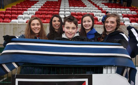 St. Patrick's College (L-R) Nuala Carvill, Monica McKay, Ultan Curran, Fionnuala Crosbie and Molly McMullan