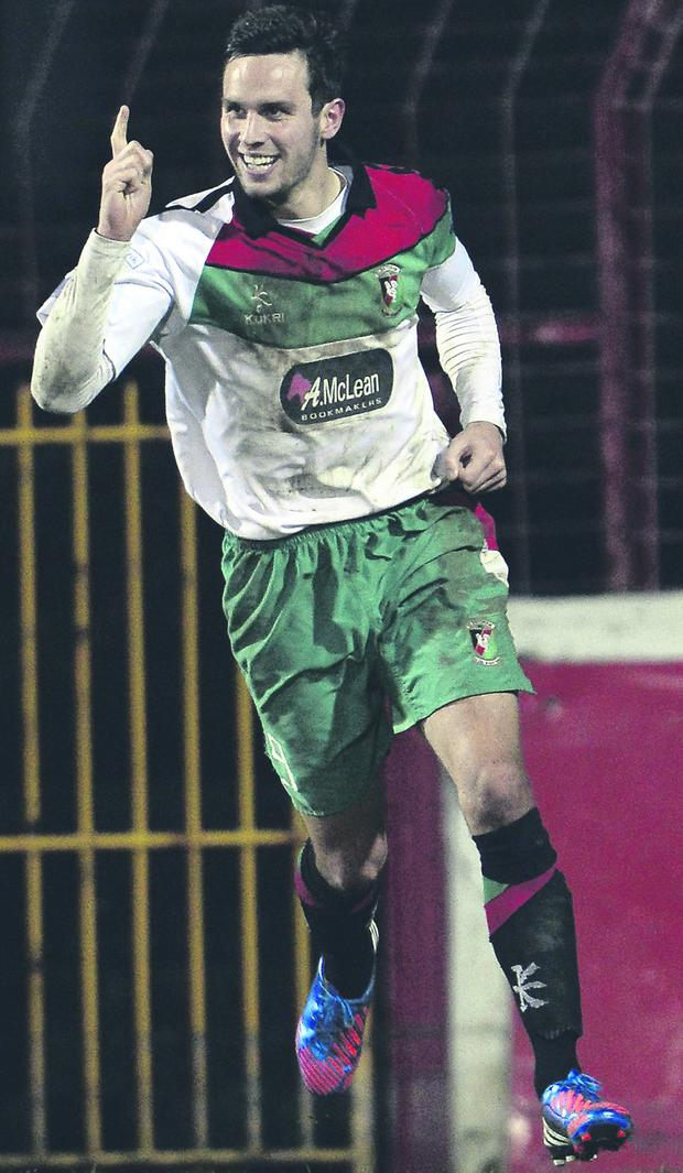 Andy Waterworth hopes to emulate his late grandfather by lifting the Irish Cup with Glentoran