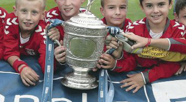 Future stars: Portadown Juniors at the Newforge launch